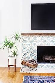 Image result for tiled fireplace