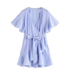 Butterfly Sleeve Summer Dress
