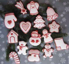 Купить Пряники имбирные Рождественские - пряники расписные, имбирное печенье, имбирный пряник, медовые пряники