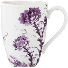 Scalamandre by Lenox, Toile Tale Amethyst Mug found on Polyvore