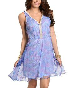 Look what I found on #zulily! Lavender Lace V-Neck Dress #zulilyfinds