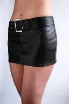 Leather look micro mini skirt | Skirts men can wear (Leather and ...