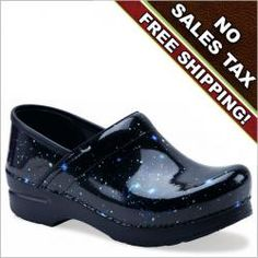 b0f560e5d7 Dansko Stargazer patent clog for women looks like a star filled night  sky.These are my night shift work shoes!