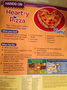 Heart-y pizza. Ranger Rick jr magazine. February 2014