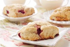 Make These Homemade Strawberry Scones with Strawberry Yogurt
