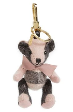 Burberry 'Thomas' Check Bear Cashmere Bag Charm available at #Nordstrom
