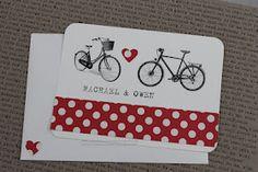 paperdollsweddings: Vintage bicycle postcard wedding invitation
