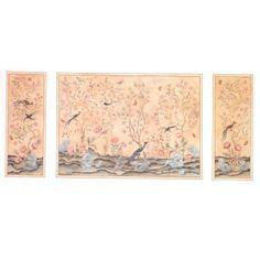 Minimum+World+MJ016+-+1/12th+Scale+Chinoiserie+3+Panel+Wallpaper