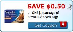 New Coupon!  Save $0.50 on ONE (1) package of Reynolds® Oven Bags - http://www.stacyssavings.com/new-coupon-save-0-50-on-one-1-package-of-reynolds-oven-bags/