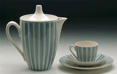 Kaffeegeschirr, Form 1260/3  [Stiftung Moritzburg - Kunstmuseum des Landes Sachsen-Anhalt], Design Erich Krause, VEB Steingutwerk Elsterwerda, DDR, GDR