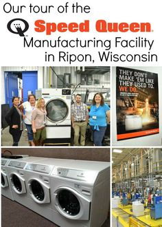 An Inside Look at the Speed Queen Manufacturing Facility in Ripon, Wisconsin. Ever wonder what it is like in the Speed Queen manufacturing facility? Get a peak inside! House Cleaning Tips, Spring Cleaning, Cleaning Hacks, Laundry Equipment, Stupid Guys, Laundry Hacks, Dryers, Washers, Guy Stuff