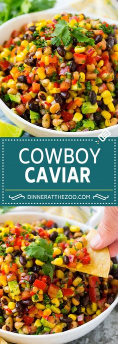 Cowboy Caviar Recipe | Bean Salad Recipe | Bean Dip Recipe | Corn and Bean Dip #cowboycaviar #salad #dip #appetizer #dinneratthezoo #beans #corn