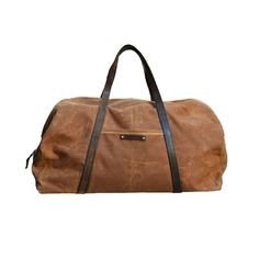 Versatile and practical, this Military Waxed Canvas Duffel Bag is the ultimate unisex accessory. Made from waterproof waxed canvas, the duffel bag opens wide with a vintage metal zipper and can be held...  Find the Military Waxed Canvas Duffel Bag, as seen in the A Luxury Camping Retreat Collection at http://dotandbo.com/collections/a-luxury-camping-retreat?utm_source=pinterest&utm_medium=organic&db_sku=PGA0019-spice