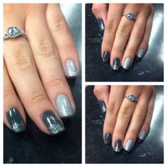 Different Shades of Grey with Silver Glitter