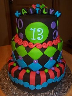 neon cakes - Google Search