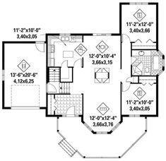 Country Plan: 1,146 Square Feet, 2 Bedrooms, 1 Bathroom - 6146-00360 2 Bedroom House Plans, Cottage Floor Plans, Bungalow House Plans, Dream House Plans, Small House Plans, Arranging Bedroom Furniture, Coastal Master Bedroom, Girls Bedroom Colors, Modern Farmhouse Plans