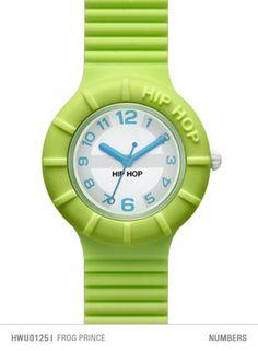 HIP HOP OROLOGIO NUMBERS FROG PRINCE cassa da 32 mm HWU0125