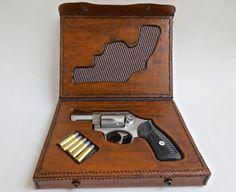 Leather Gun Case For A Ruger .357 Magnum Sp 101 Revolver