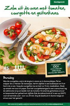 Zalm uit de oven met tomaten, courgette en geitenkaas - Lidl Nederland