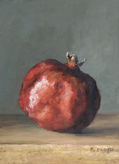 Pomegranate {a new daily painting} — Elizabeth Floyd Granada, Fruit Painting, Ceramic Painting, Pomegranate Art, Jewish Art, Still Life Art, Paintings I Love, Painting Lessons, Flower Art