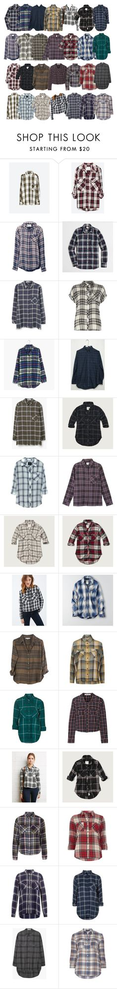 """""""Malia Hale inspired flannels"""" by xzozebo ❤ liked on Polyvore featuring Zara, Current/Elliott, J.Crew, MANGO, Dorothy Perkins, Madewell, Abercrombie & Fitch, Rails, RVCA and Forever 21"""