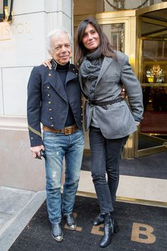 While in Paris, Ralph Lauren paid a visit to Emmanuelle Alt — both of whom wore denim.