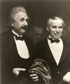 Albert Einstein and Charlie Chaplin (rare photo)