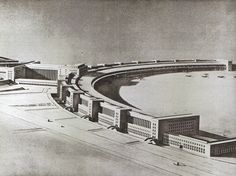 Ernst Sagebiel, Model Flughafen Tempelhof, 1937.