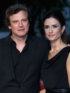 Colin Firth and wife Livia Guiggiani  arriving at the Duck Waffle for dinner. Simon has known Colin for years.