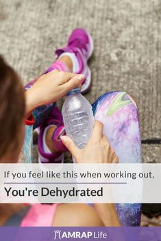 The symptoms of dehydration are way to easy to overlook during a tough workout. #fitness #healthylifestyle #AMRAPLife