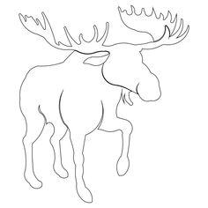 moose head template    Default Pattern Height: 7.98