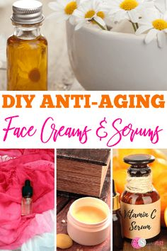 21 Effective Homemade Anti-Aging Serums & Anti-Wrinkle Cream Recipes - - Whip up these simple DIY Wrinkle Creams and Anti-aging Serums in a jiffy. They might just work better than those expensive brands! Moisturizer For Oily Skin, Oily Skin Care, Anti Aging Skin Care, Facial Cleanser, Dry Skin, Serum Anti Age, Creme Anti Rides, Hydrating Eye Cream, Les Rides