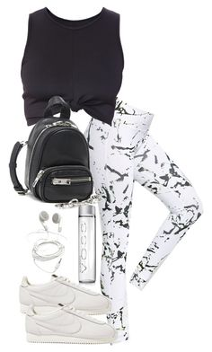 A fashion look from February 2018 featuring cropped shirts, white leggings and leather shoes. Browse and shop related looks. Casual School Outfits, Tomboy Outfits, Cute Casual Outfits, Fashion Outfits, Women's Fashion, Evening Dresses With Sleeves, Friend Outfits, Womens Workout Outfits, Swag Style