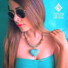 Coatlicue choker - Coatlicue mother goddess of the Aztecs was represented with a necklace made of hands and hearts as a symbol of the sacrifices that they made un her honor, she inspired us to create each design un our collection specially this!