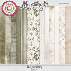 Faded Glory - papers by Moosscrap's Designs