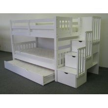 Like this bunk bed with steps instead of a ladder