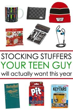 Teen boy gift ideas: Here are 65 Stocking Stuffers for a Teen Guy he will actually want for Christmas this year!