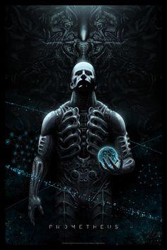 Mondo poster: Prometheus