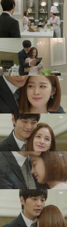 150917 Yong Pal Episode 13 - Joo Won, Kim Tae Hee. One of the sweet moment to cherish. After all, she is still on a revenge mode.