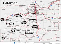 Map Of Colorado Was The Th State To Join The Union It Became A - Colorado road maps