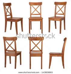 Chair isolated on white background - stock photo