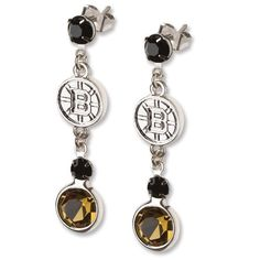 NHL Boston Bruins Crystal Logo Earrings by Logo Art. $19.99. LogoArt  has creatively taken your favorite team logo in a highly polished alloy and enhanced it with clean and bright Preciosa crystals, symbolizing the distinctive team color it to create this fan inspired chic earring design.