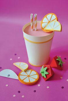 Paper food - Anais Profit I Portfolio 3d Paper Art, Paper Artwork, Food Crafts, Diy And Crafts, Crafts For Kids, Paper Crafts Origami, Diy Paper, Art Carton, Paper Cut Design