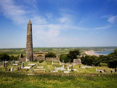 12th century round tower-county Waterford