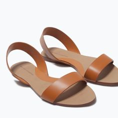 45e528b2d51d FLAT LEATHER SANDALS-Shoes-Woman-SHOES   BAGS