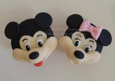 Mickey & Minnie Cupcake Face