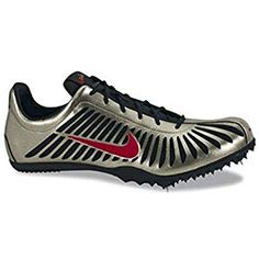 separation shoes 10547 2dcdc Nike Zoom Maxcat II Track   Field Spikes (10, Gold Black Red)