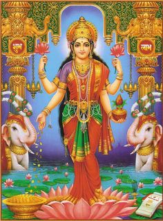 Lakshmi is the Hindu god of wealth, fortune & prosperity and also the wife of Lord Vishnu. Here is a collection of Goddess Lakshmi Images & HD wallpapers. Indian Goddess, Goddess Lakshmi, Buddha, Religion, Lakshmi Images, Arte Country, Hindu Festivals, Sacred Feminine, Lord Vishnu