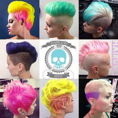 Short haircuts with crazy colours that will create a new look