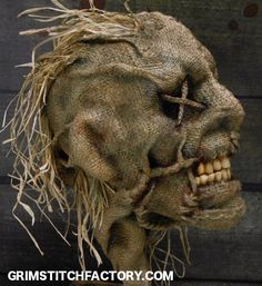 ORIGINAL PINNER: These scarecrows, masks & props are genuinely unusual and VERY disturbing… love'em! http://grimstitchfactory.com/